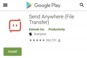 File Transfer Andriod Apps - Send Anywhere
